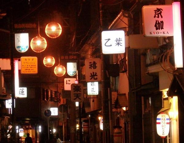 松島新地の街並み