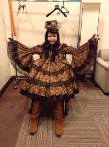 ロリータ風の服