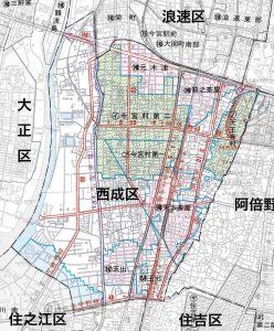 西成区の地図