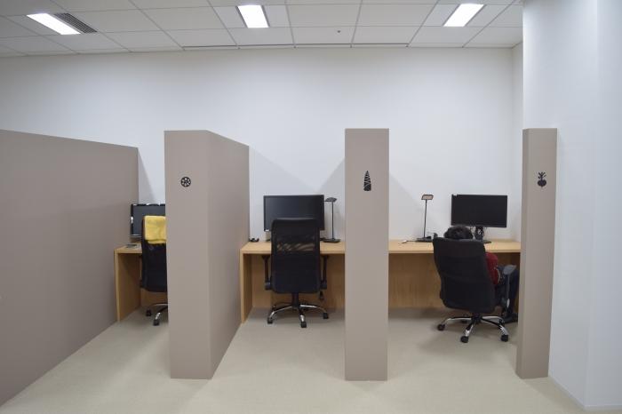 半個室があるオフィス
